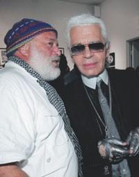 Bruce Weber and Karl Lagerfeld