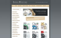 "The home page of the ""replica watch store"" Web site."