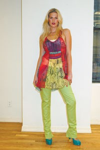 A look from Southpaw Pawe.wa, modeled by one of the collection's muses, Alexandra Richards.