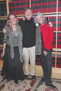 Sveva Gallmann, Roger Schmid and Kuki Gallmann.