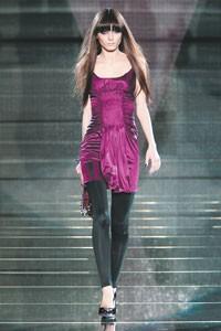 Irina Lazareanu in the Versace show last week.