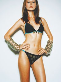 A look from the Louise Middleton for Shanghai Tang swim line.