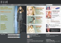 Elle.com's redesigned home page.