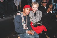 Pharrell Williams and Lee Radziwill