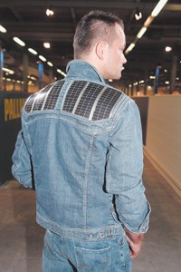 Bogner Jeans' solar-powered denim jacket.