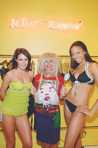 Betsey Johnson with looks from her new swim line.