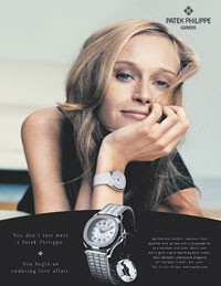 An image from Patek Philippe's new women's advertising campaign.