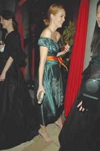 Lauren duPont in Vera Wang.