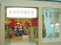 A Cacique storefront.