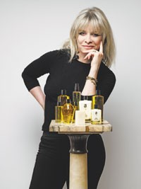 Jo Wood with her bath and body line.