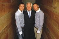 Dan (left) and Dean Caten with Roberto Martone.