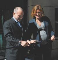NYC Police Commissioner Raymond Kelly and Mariska Hargitay.