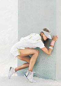 A spring tennis look from Adidas by Stella McCartney.
