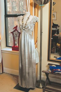A dress by Loulou de la Falaise with agate and freshwater pearls, priced at $5,200.
