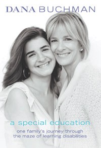 The book's cover shows Dana Buchman with her daughter.