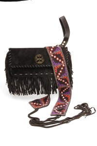 A Tory Burch suede bag and belt.