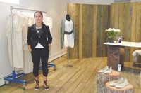 Maria Cornejo in her new Greenwich Street store.
