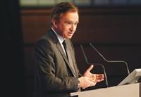 Bernard Arnault speaks to LVMH shareholders on Thursday in Paris.