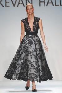 Kevan Hall's Lyon lace dress.