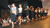 Members of the NBA's Orlando Magic Dancers model the new O2Cool performance athleticwear by Champion.