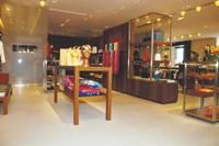 Inside the Hermès store.