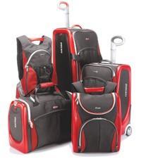 Tumi's Ducati luggage.