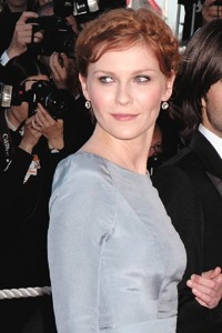 Kirsten Dunst wearing Fred Leighton earrings in Cannes.