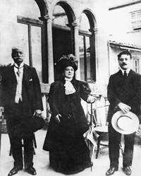 Guccio Gucci and parents Elena and Gabriello, 1905.