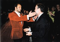 Tom Ford and Domenico De Sole at their final show in 2004.