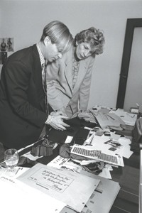 Richard Lambertson and Dawn Mello in 1990.