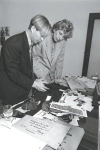 Richard Lambertson and Dawn Mello in 1990.