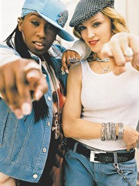 Madonna in the Gap ad campaign with Missy Elliott.