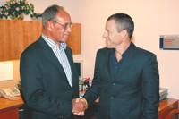Dr. Harold Freeman and Lance Armstrong