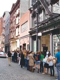 The line outside Marc Jacobs on Mercer Street.