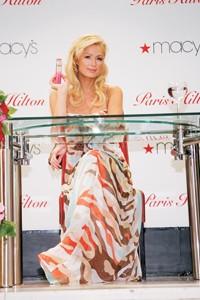 Paris Hilton at Macy's Herald Square's main-floor Beauty Arcade.