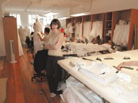 Amy Kuschel in her atelier.