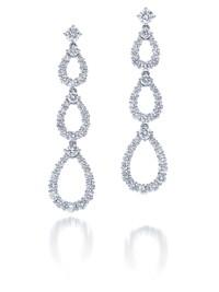 Harry Winston's triple-loop diamond earrings.