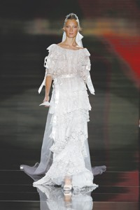 A Valentino dress on the runway.