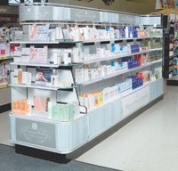Walgreens' European Beauty Collection display.