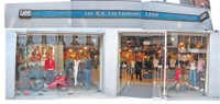 A Lee concept store in Europe.