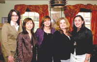 Cle de Peau's Gisela Ballard, Tomoko Yamagishi-Dressler, Jadzia Tirsch, Lucia Pieroni and Heidi Manheimer.
