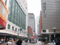 Filene's flagship opposite Macy's at Downtown Crossing in Boston.