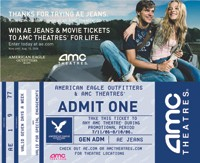 The AE promotional ticket.
