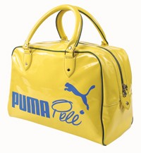 A soccer-inspired bag and an Italy soccer jersey by Puma.