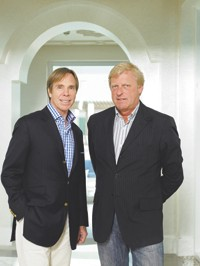 Tommy Hilfiger with Fred Gehring.