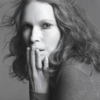 Mia Farrow in Gap's upcoming print ads promoting T-shirts.