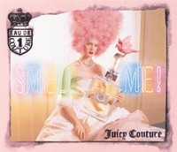 An ad visual for Juicy Couture.