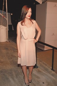 Scarlett Johansson at this year's CFDA Awards.