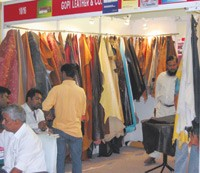 A scene from this year's Delhi International Leather Fair.