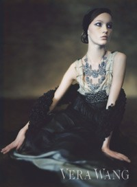 A Paolo Roversi photograph for Vera Wang's new ad campaign.